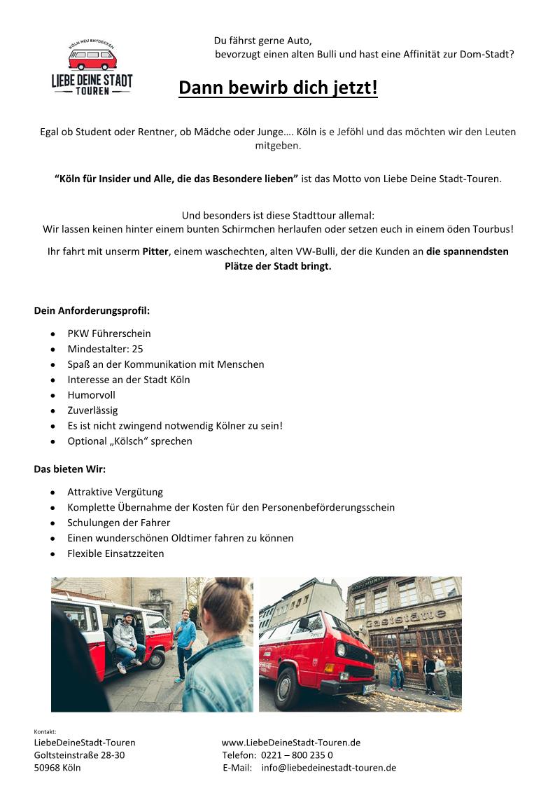 Aushang_Recruiting Fahrer_LiebeDeineStadt Touren