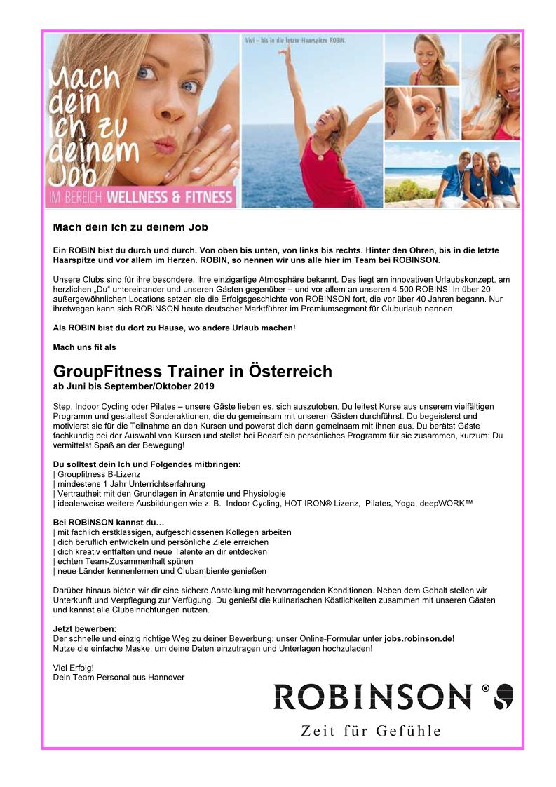 GroupFitness Trainer Österreich