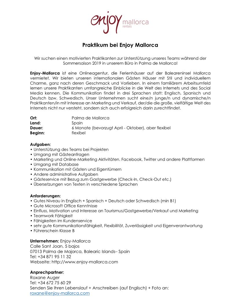 Internship proposal 2019 German