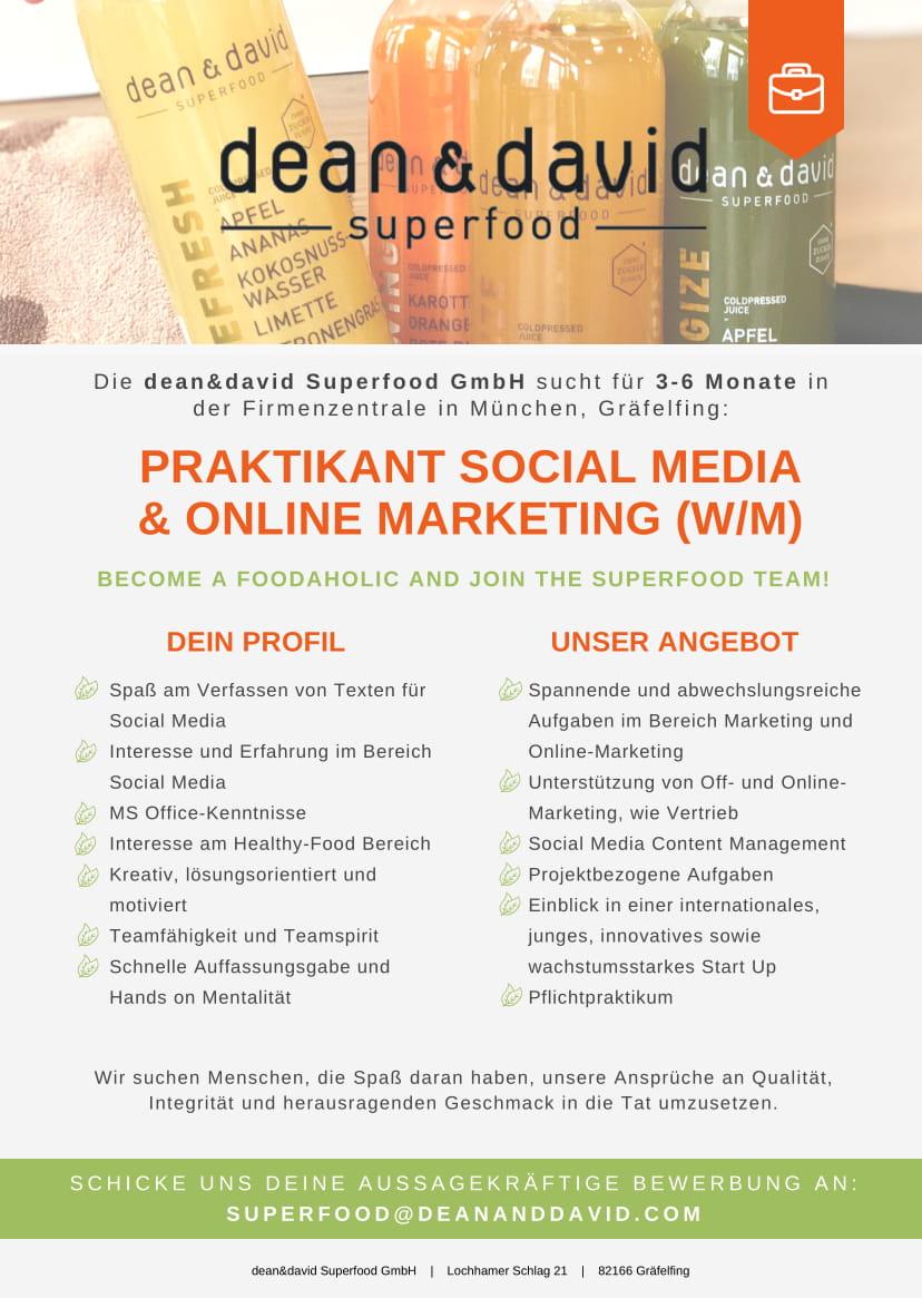 Praktikant Onlinemarketing