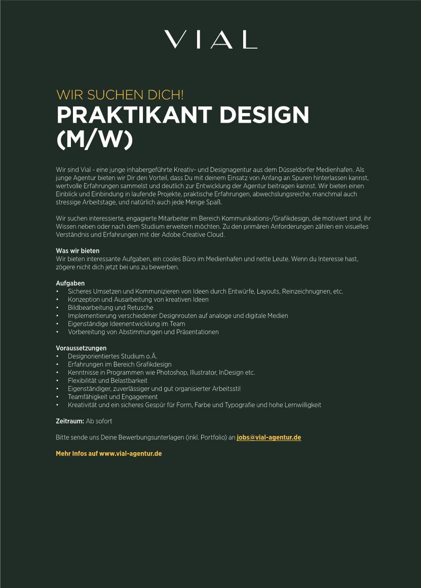 VIAL_Praktikum_Design_Ausschreibung