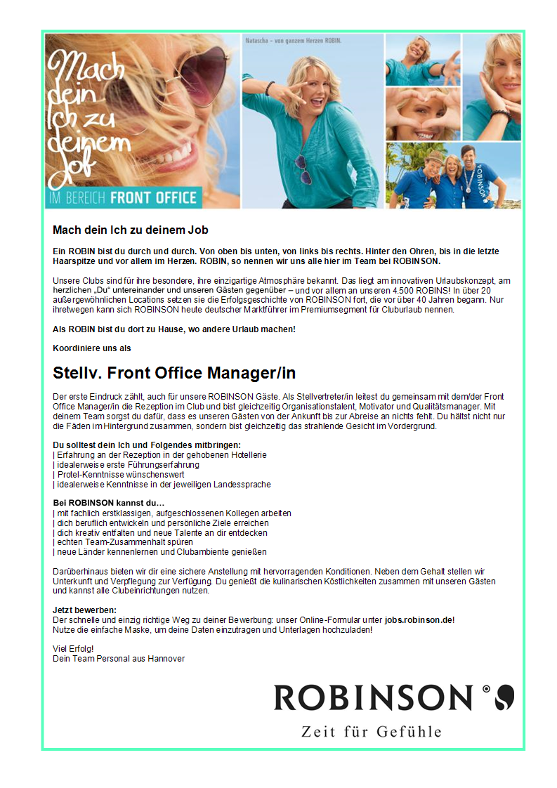 Stellv. Front Office Manager